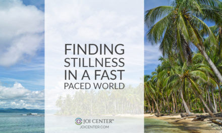 Finding stillness in a fast-paced world