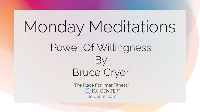 Monday Meditations with Bruce Cryer